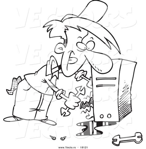 fix clipart black and white computer wires clipart 6