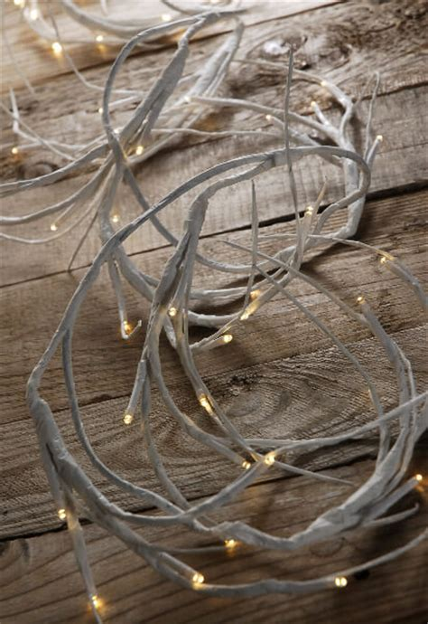 led warm white 6 battery operated white branch garland