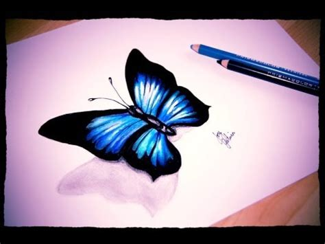 draw  simple butterfly prismacolor pencils