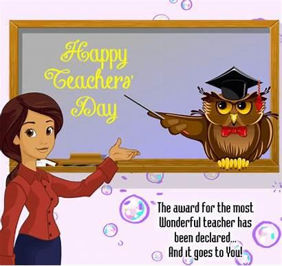 Teacher Wonderful Teachers Ecard Card Ecards Send