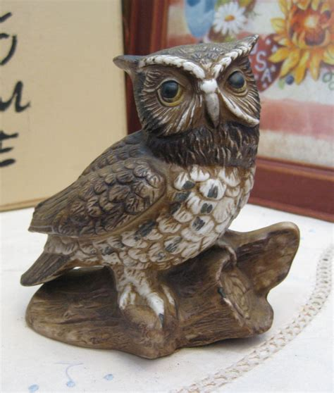 home interior figurines homco brown barn owl vintage 80 s home interiors ceramic brown owl figurine ebay