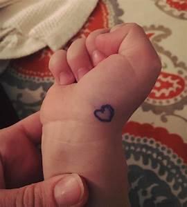 I Drew A Heart On My Boy U0026 39 S Hand