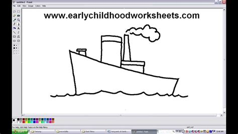 How To Draw A Boat Kindergarten by How To Draw Cartoons Ship Easy Step By Step For