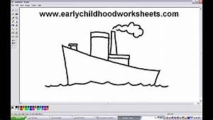 How to Draw Cartoons Ship Easy Step by Step For ...