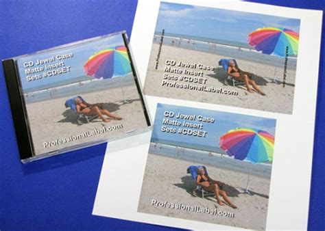 cd jewel case matte printable inserts front
