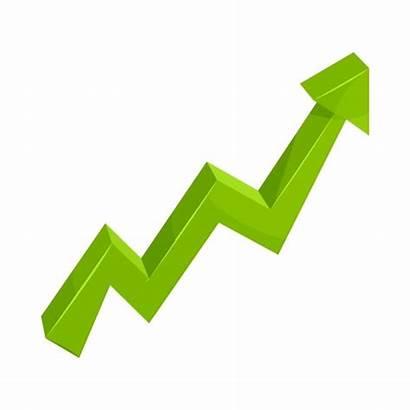 Arrow Growth Icon Cartoon Chart Vector Background