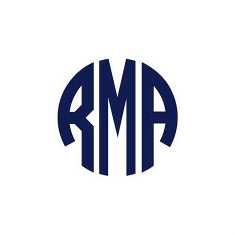 vinyl monogram sticker  circle font