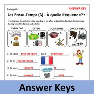 French Hobbies Worksheets (Les Passe-Temps)   Teaching ...