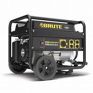 Brute U00ae 3 500 Running 5 250 Starting Watt Gasoline Portable