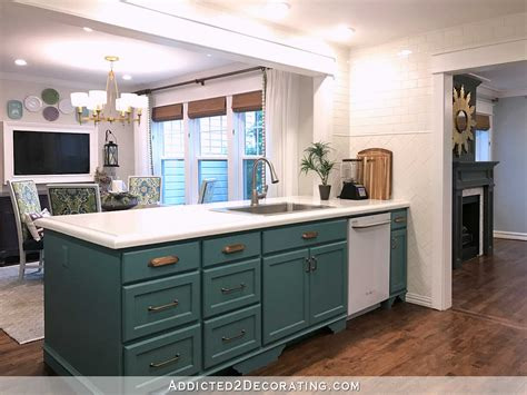 Kitchen Living Etterby by My Finished For Now Kitchen From Green To Teal