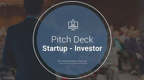 startup pitch deck template  template