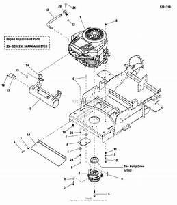Simplicity 5900928   52 U0026quot  Mower Parts Diagram For Engine Group
