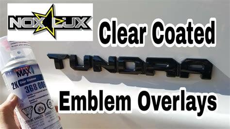 nox lux emblem overlays kit toyota tundra clear coated