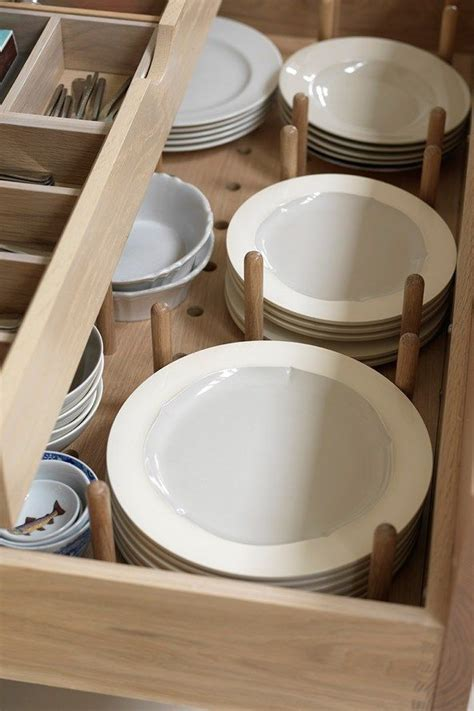 plate storage ideas  pinterest dream kitchens