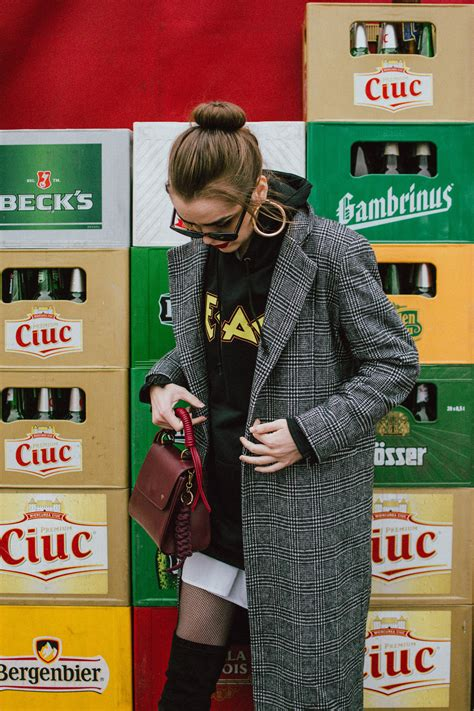 How To Create An Edgy Look With A Checked Coat Couturezilla