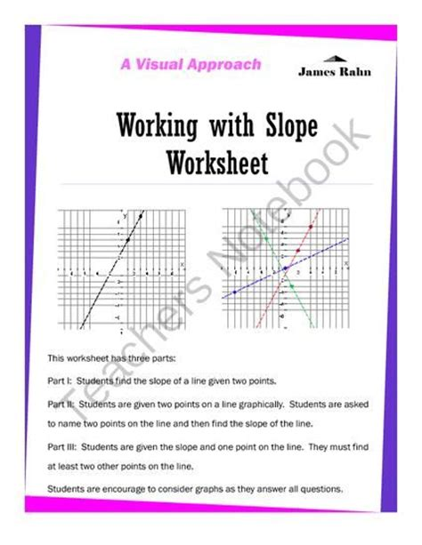 Finding Slope Worksheets Middle School  Worksheets Equation And Algebra 1 On Pinterestequation