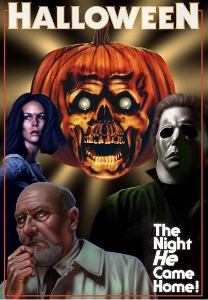 Horror Halloween Movies Posters Scary Icons Font
