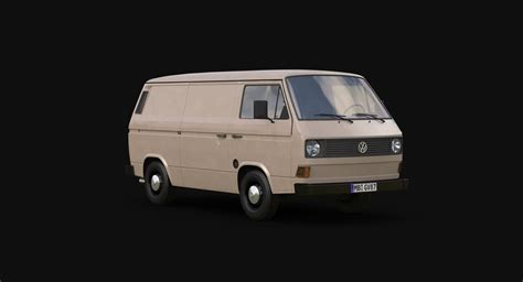 t3 vw 3d t3 volkswagen transporter model