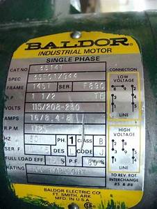 Baldor 5hp Single Phase Motor Wiring Diagram