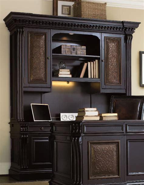 credenza desk with hutch telluride black computer credenza with hutch 370 10 464
