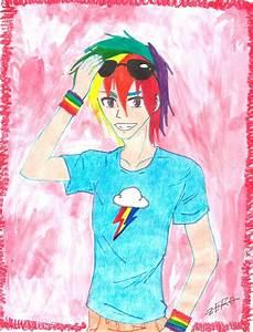 Rainbow Dash Human Genderbend by InsaneZer0 on DeviantArt