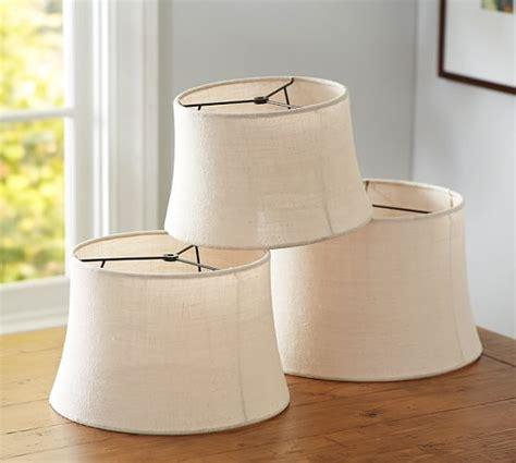 pottery barn burlap l shade burlap sheer tapered drum l shade pottery barn