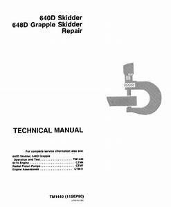 John Deere 640d 648d Skidders Repair Tm1440 Pdf Manual