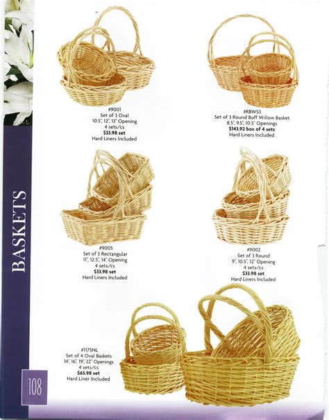 glass vases baskets