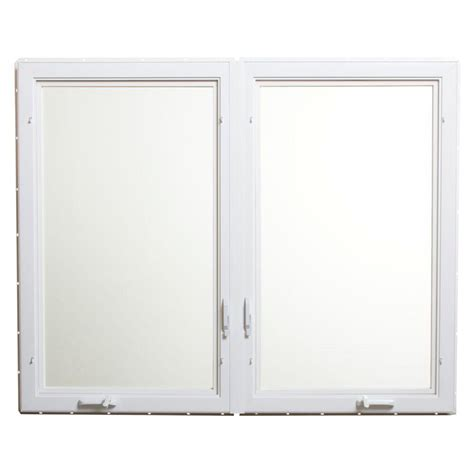 tafco windows      vinyl casement window  screen white vc lr  home depot