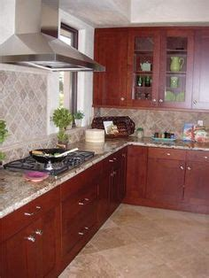 kitchen wall backsplash cherry cabinets with granite countertops home d 3445