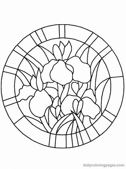 Coloring Stained Glass Pages Printable Adults Patterns