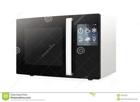 la cuisine de a z four à micro ondes avec l 39 écran tactile illustration stock