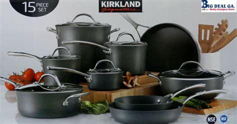 kirkland signature anodized hard pot aluminum piece cookware kitchen
