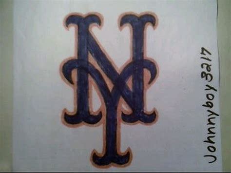 draw  york mets logo sign symbol emblem step
