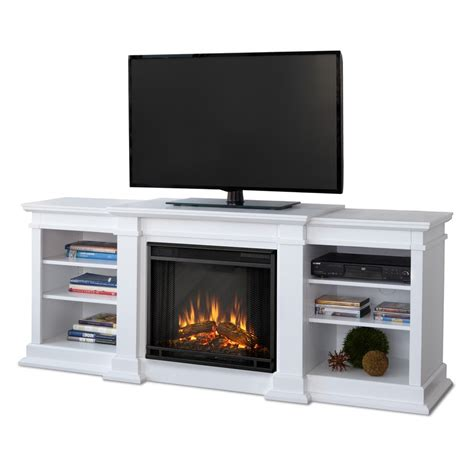 real flame    white led electric fireplace  lowescom
