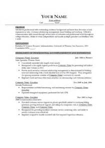 Resume Exles by A Resume Best Resume Exle