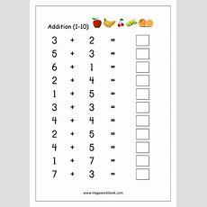 Math Worksheet  Addition (110)  Maths Worksheets For Kindergarten  Addition Worksheets