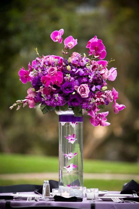 purple flower arrangements centerpieces purple orchid