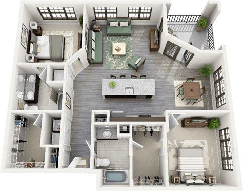 appartement 2 chambres 50 plans 3d d 39 appartement avec 2 chambres design