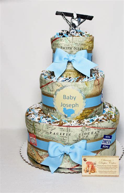 baby diaper cake airplane travel final destination world