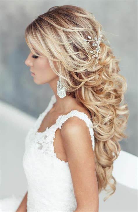 20 ideas of wedding half up long hairstyles