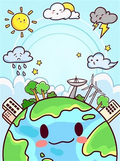 Cuaca Poster Gambar Cartoon Weather Paling Mendung