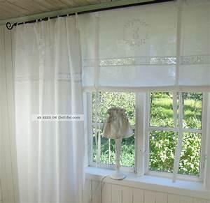 Leinen Gardinen Weiß : lillabelle crystal scheiben gardine 120x120 wei bestickt monogramm shabby chic ~ Whattoseeinmadrid.com Haus und Dekorationen