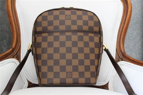 louis vuitton damier ebene ipanema pm crossbody bag