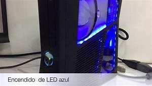 MODIFICACION DE XBOX 360 SLIM LED AZUL TUNING RGH CHIP 3