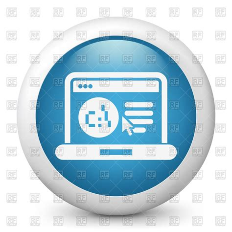 free web page clipart programming icon laptop with open web page vector image