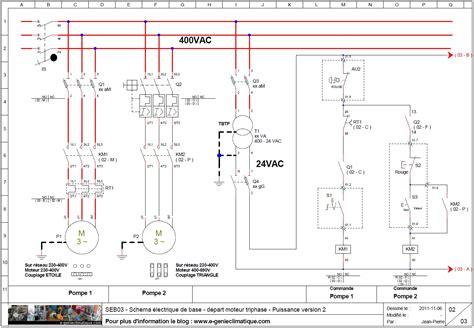 seb03 schéma électrique de base départ moteur triphasé