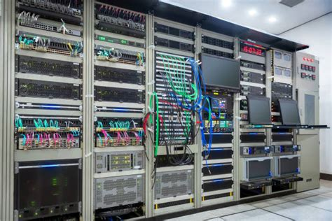 messy data center rack stock  pictures royalty  images istock