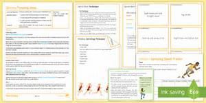 Athletics Lesson 2: Sprinting - sprint, running, sprint start