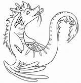 Wyvern Lineart Werepuppy Deviantart Stats Downloads sketch template